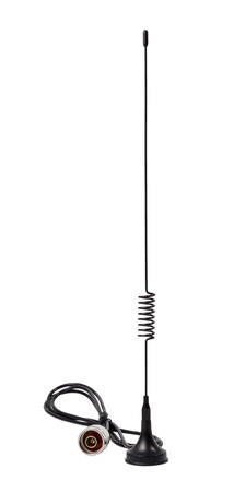 Removable standard gsm antenna isolated on a white background
