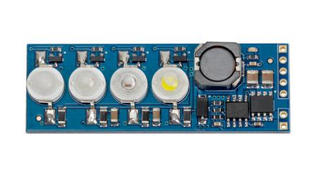 LED indicator panel isolated on white background