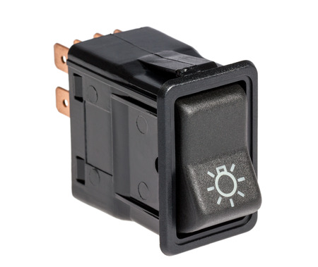 switcher: Car light control switch  isolated on a white background