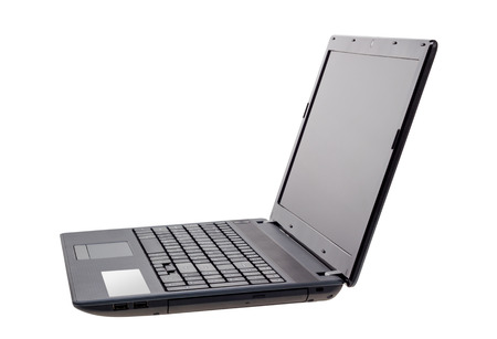 Electronic collection - Modern laptop isolated on a white background photo