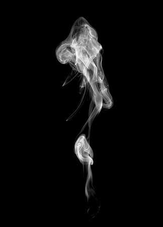 cigarette smoke: Abstract light smoke on a dark background