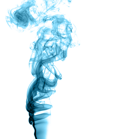 Abstract colored smoke on a light background Stock Photo