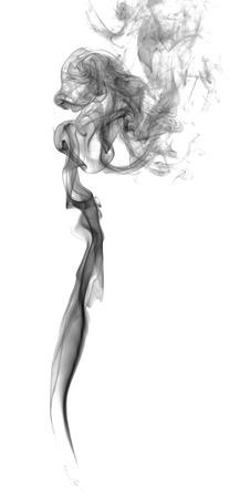 cigarro: Humo oscuro abstracto sobre un fondo claro
