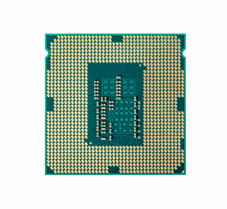 computer cpu: Electronic collection - Computer CPU Processor Chip from the bottom side isolated on white background