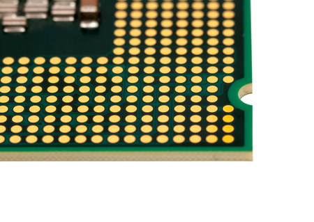 computer cpu: Electronic collection - Computer CPU Chip from the bottom side Isolated on white background