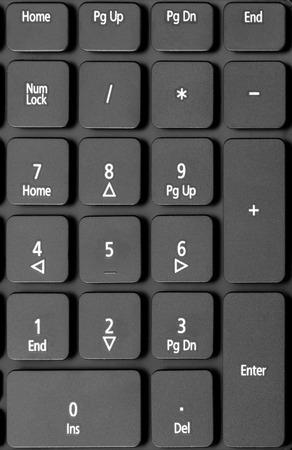 teclado numérico: Colección electrónica - detalle teclado numérico en el teclado del ordenador portátil