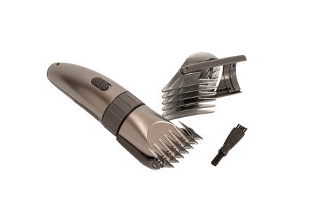 hairclipper: Electronic collection - closeup of hairclipper isolated on white background Stock Photo