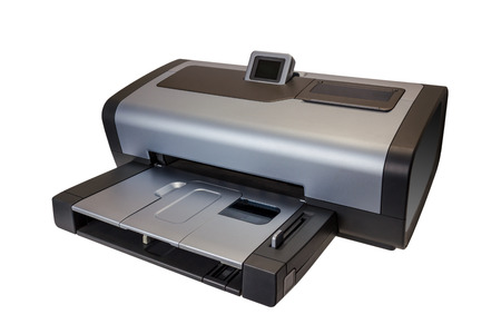 inkjet printer: Electronic collection - modern inkjet printer isolated on white background
