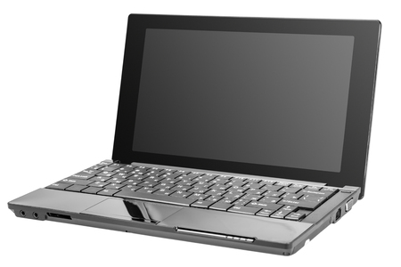 netbook: Electronic collection - Modern open laptop (netbook) computer isolated on white background
