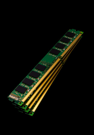 dimm: Electronic collection - computer random access memory (RAM) modules on the black background