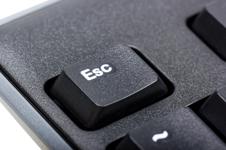 esc: Electronic collection - detail black computer keyboard with key esc Stock Photo