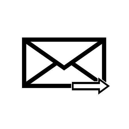 Email symbol letter icon - vector, flat design.