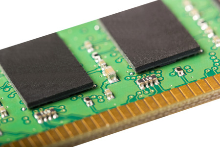 dimm: Electronic collection - computer random access memory (RAM) modules isolated on the white background Stock Photo