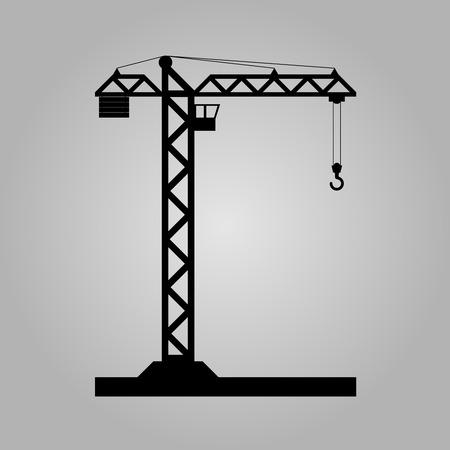 Building Tower crane icon - vector, flat design. Eps 10. Vector Illustration