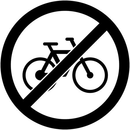 prohibited: No bicycle, bike prohibited symbol.