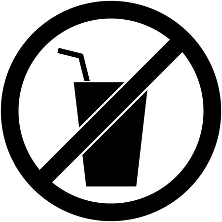 prohibido: Ning�n s�mbolo de la bebida prohibida aislado en blanco.