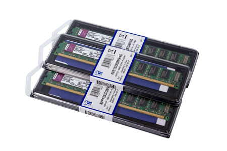 dimm: Computer random access memory (RAM) modules DDR3 Form Factor on the white background