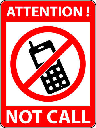 prohibited symbol: No phone, telephone, cellphone and smartphone prohibited symbol. Sign indicating the prohibition or rule. Warning and forbidden. Flat design. Vector illustration. Easy to use and edit.