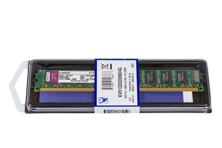 ddr3: VOLGOGRAD, RUSSIA - CIRCA MAY, 2011: computer random access memory (RAM) modules DDR3 Form Factor on the white background