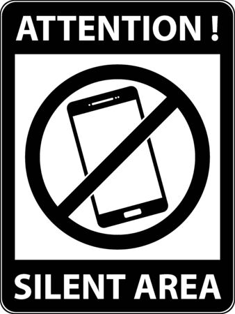 use regulation: No phone, telephone, cellphone and smartphone prohibited symbol. Sign indicating the prohibition or rule. Warning and forbidden. Flat design. Vector illustration. Easy to use and edit.