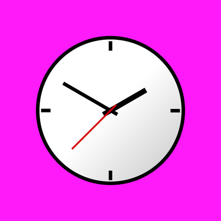 analog dial: Clock icon, Vector illustration, flat design. Easy to use and edit. Illustration