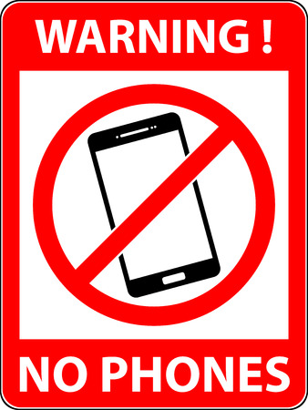prohibited symbol: No phone, telephone, cellphone and smartphone prohibited symbol. Sign indicating the prohibition or rule. Warning and forbidden.