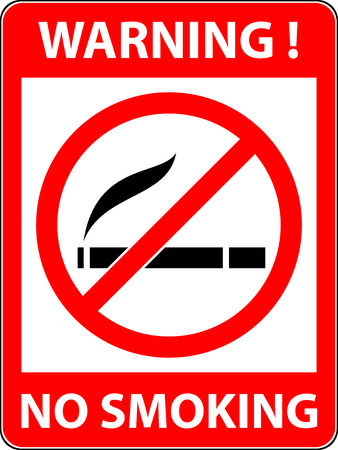 cigar smoke: No smoking, cigarette, smoke and cigar prohibited symbol. Sign indicating the prohibition or rule. Warning and forbidden. Flat design.