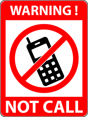 use regulations: No phone, telephone, cellphone and smartphone prohibited symbol. Sign indicating the prohibition or rule. Warning and forbidden.