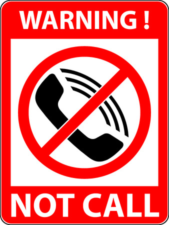prohibited symbol: No phone, telephone, cellphone and smartphone prohibited symbol. Sign indicating the prohibition or rule. Warning and forbidden