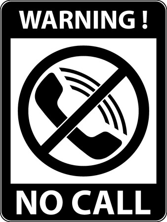 No phone, telephone, cellphone and smartphone prohibited symbol. Sign indicating the prohibition or rule. Warning and forbidden. Flat design. Vector illustration. Easy to use and edit. EPS10.