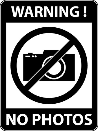 prohibited symbol: No photography, camera prohibited symbol. Sign indicating the prohibition or rule. Warning and forbidden. Flat design. Vector illustration. Easy to use and edit. EPS10.
