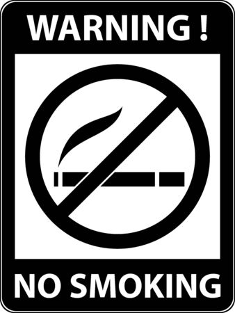 cigar label: No smoking, cigarette, smoke and cigar prohibited symbol. Sign indicating the prohibition or rule. Warning and forbidden. Flat design. Vector illustration. Easy to use and edit. EPS10.