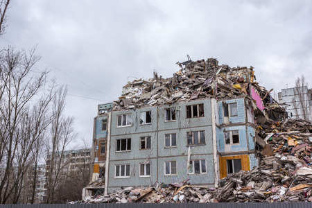 dismantling: In this house there was a gas explosion in one of the apartments has led to the destruction of the house.