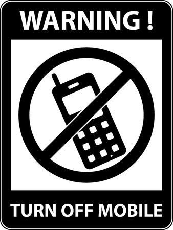 use regulations: No phone, telephone, cellphone and smartphone prohibited symbol. Sign indicating the prohibition or rule. Warning and forbidden. Flat design. Vector illustration. Easy to use and edit. EPS10.
