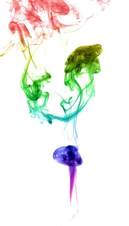 incienso: Abstract multicolored smoke on a light background