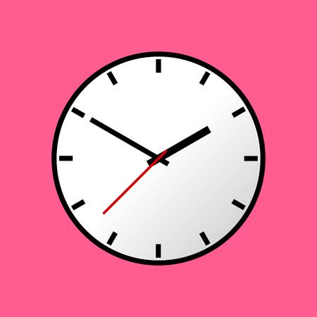 analog dial: Clock icon, Vector illustration, flat design.