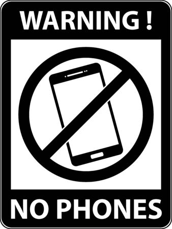 use regulation: No phone, telephone, cellphone and smartphone prohibited symbol. Sign indicating the prohibition or rule. Warning and forbidden. Flat design.