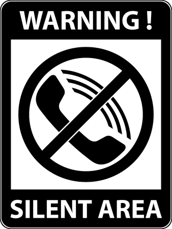 use regulations: No phone, telephone, cellphone and smartphone prohibited symbol. Sign indicating the prohibition or rule. Warning and forbidden. Flat design.