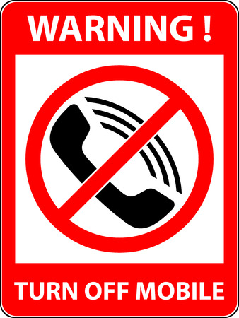 no cell phone: No phone, telephone, cellphone and smartphone prohibited symbol. Sign indicating the prohibition or rule. Warning and forbidden. Flat design.