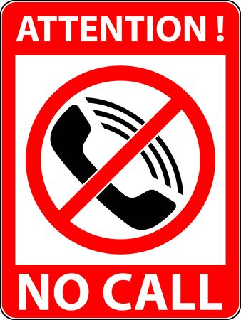 No phone, telephone, cellphone and smartphone prohibited symbol. Sign indicating the prohibition or rule. Warning and forbidden. Flat design.