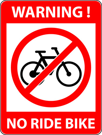 prohibited symbol: No bicycle, bike prohibited symbol. Sign indicating the prohibition or rule. Warning and forbidden. Flat design.