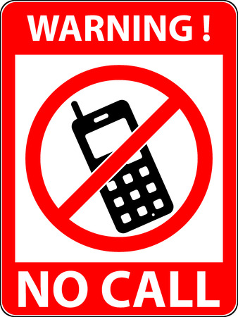 prohibited symbol: No phone, telephone, cellphone and smartphone prohibited symbol. Sign indicating the prohibition or rule. Warning and forbidden. Flat design. Vector illustration. Easy to use and edit. EPS10.