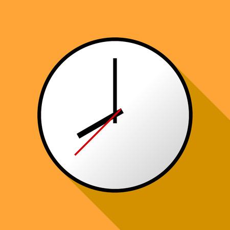 cronometro: icono del reloj, ilustración vectorial, diseño plano.
