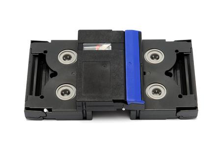 videocassette: Videocassette standard miniDV isolated on a white background Stock Photo