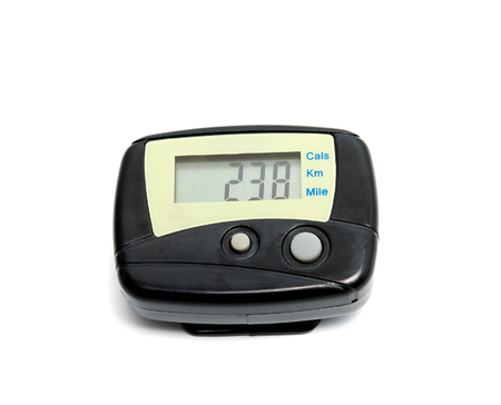 Digital Pedometer isolated on a white background. Banque d'images