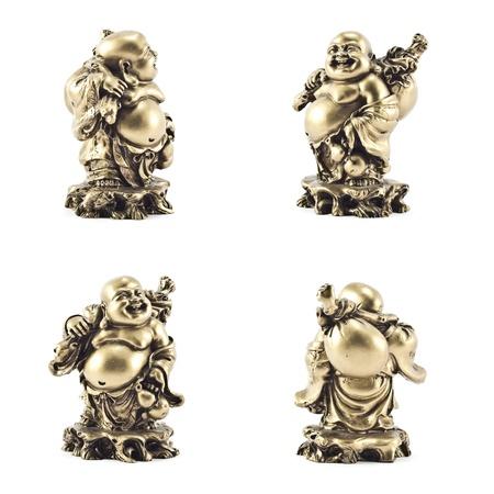 budda: Golden statue of Buddha isolated on white background.