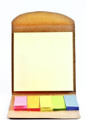 Office stickers in rainbow colors isolated white background. Stock Photo
