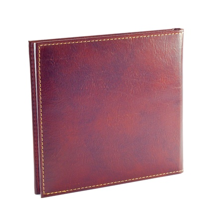 Leather Binding - Note Book Isolated on white background.  Book has unique look, but also has many potential uses as generic image.