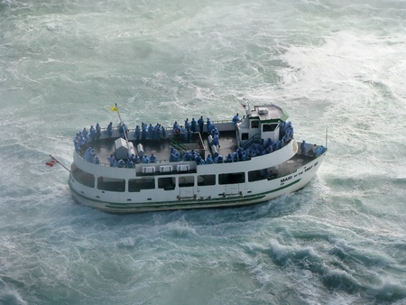 The Maid of the Mist is a boat tour of Niagara Falls