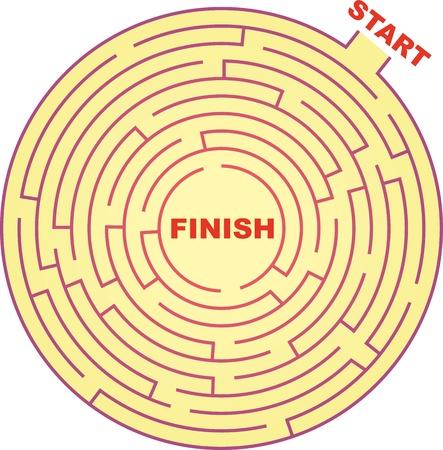 kwis: Rond Maze. Stock Illustratie